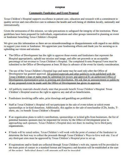 community international event proposal