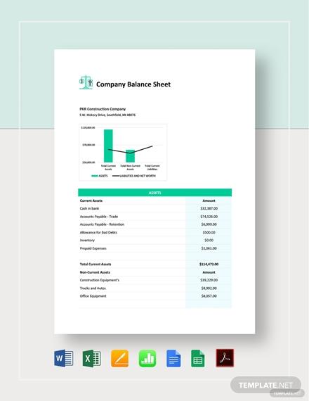 company balance sheet 2