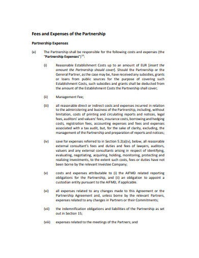 contarct investment partnership agreement template