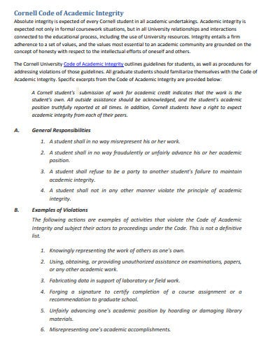 cornell code of academic research ethics