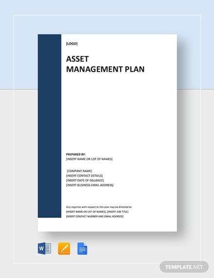 corporate asset management plan