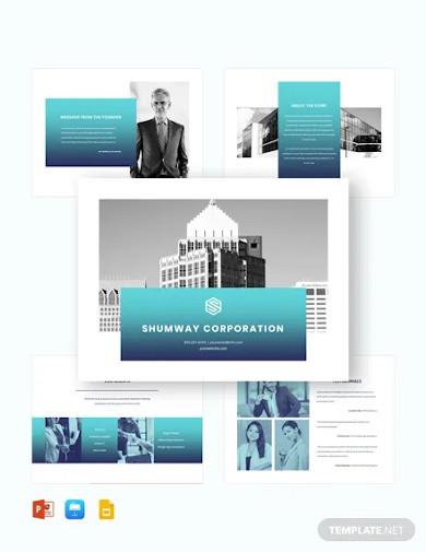 corporate company presentation template