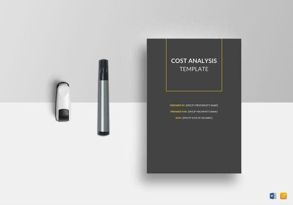 cost analysis template mockup1