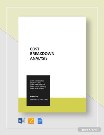 cost breakdown analysis 2