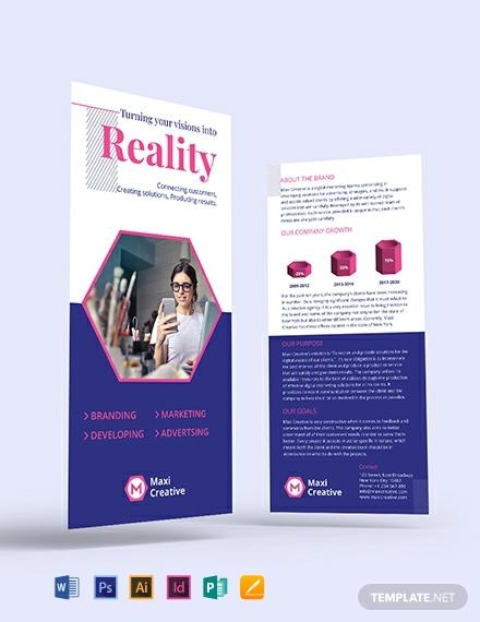 creative agency dl card template