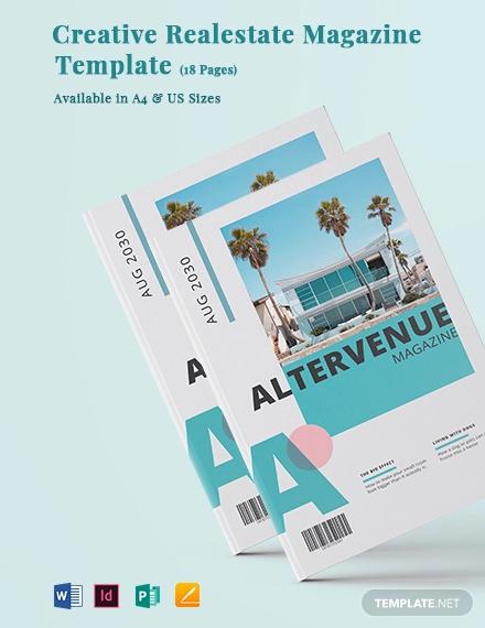 creative real estate magazine template