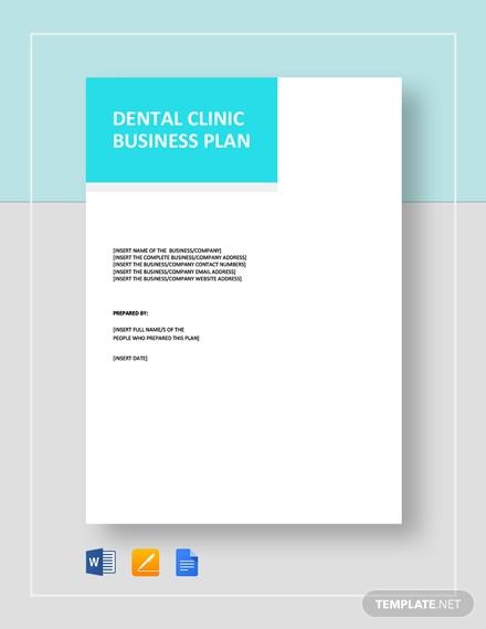 dental clinic business plan