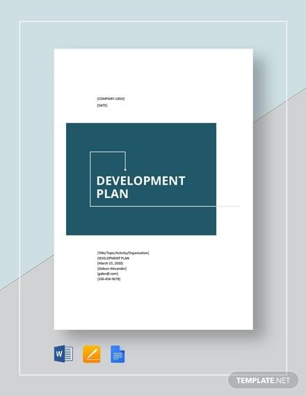 development plan format1