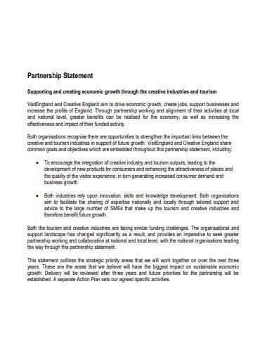 economic growth partnership statement