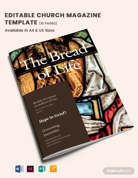 editable church magazine