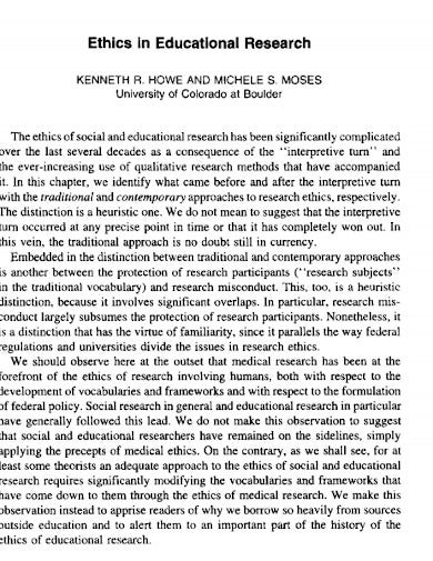 educational research qualitative ethics