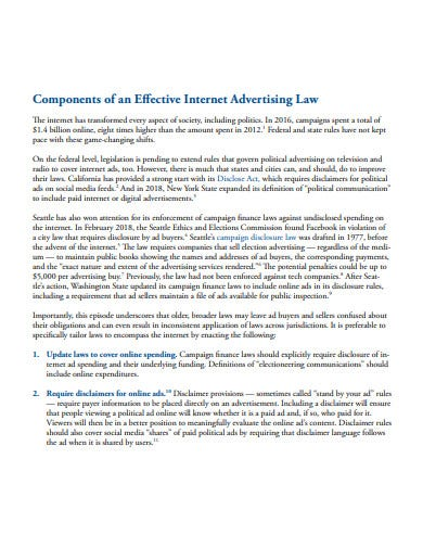effective internet advertising law