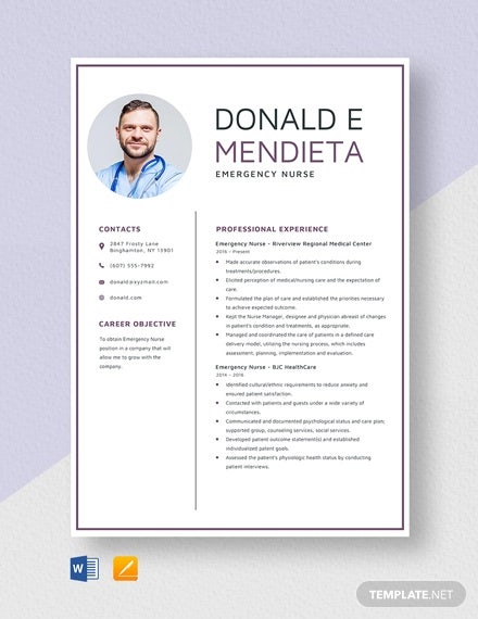 emergency nurse resume template