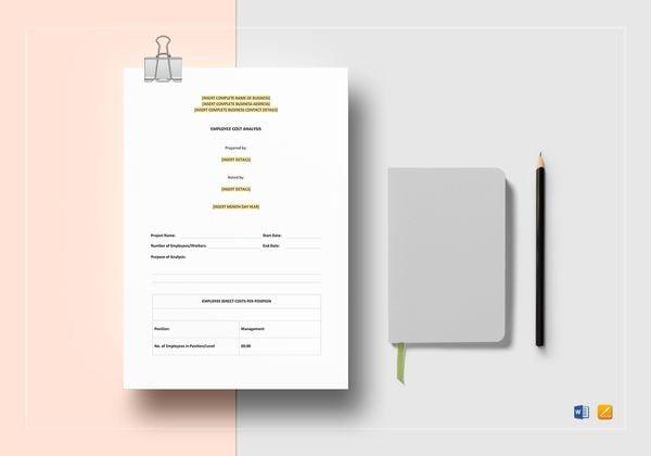 employee cost analysis template 600x420