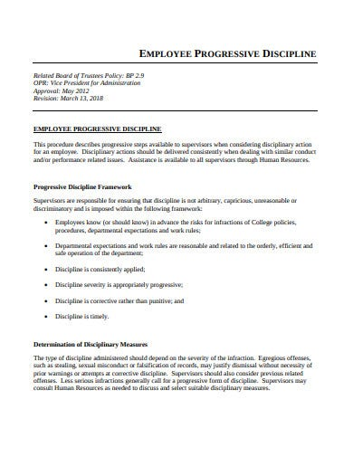 employee progressive discipline