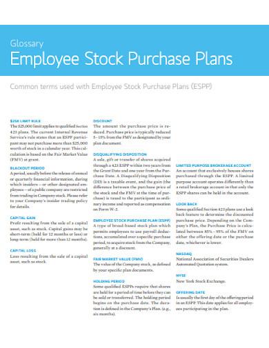 employee stock purchase plan in pdf