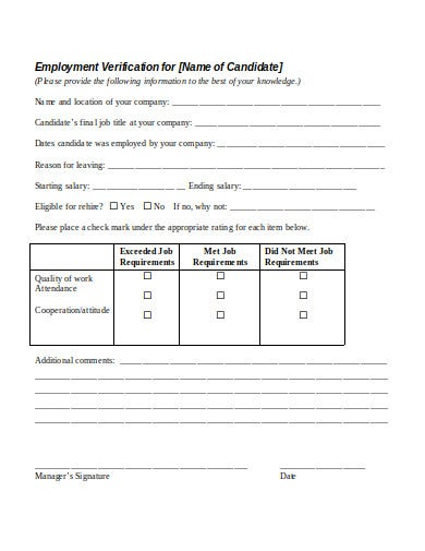 employment verification reference request letter form in doc