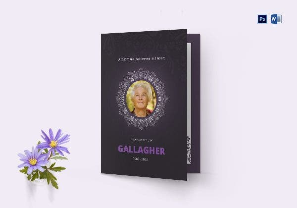 eulogy program bi fold brochure 600x420
