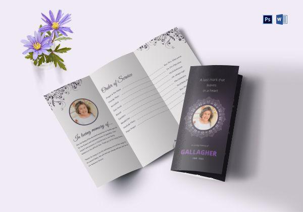 eulogy program tri fold brochure 600x420