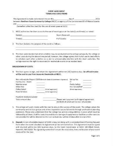 event agreement