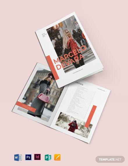 fashion photographic catalog