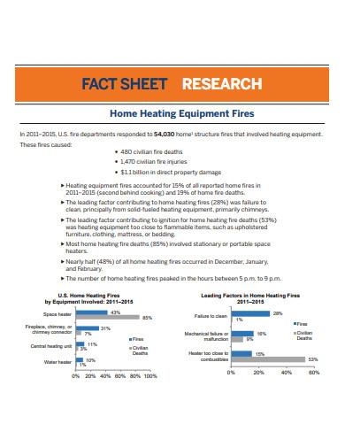 fire equipment research fact sheet template