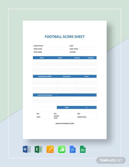 football score sheet template