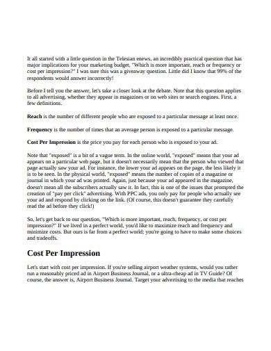 formal cost per impression