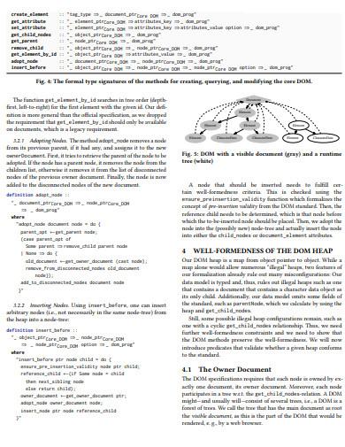 formal document object model
