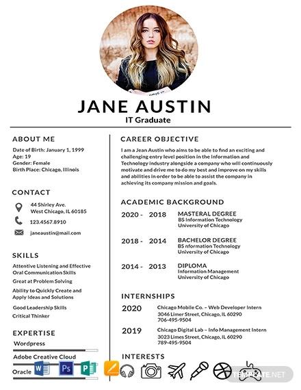 free basic fresher resume template