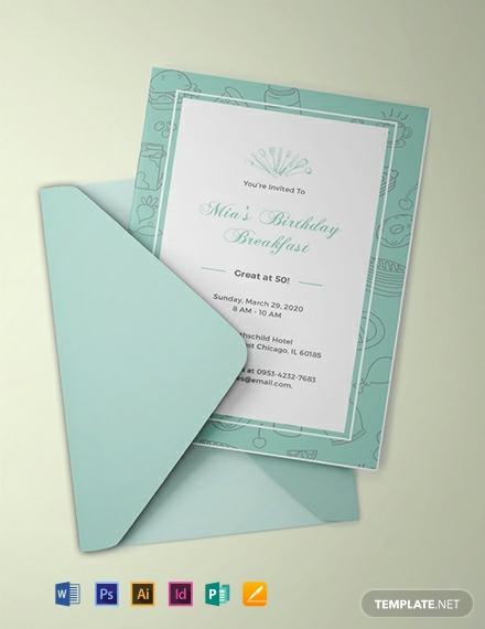 free birthday breakfast invitation template 440x570 1