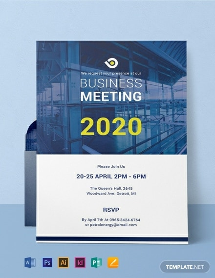 free business meeting invitation template
