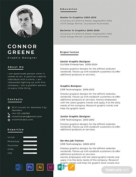 free experience resume template 440x570 1