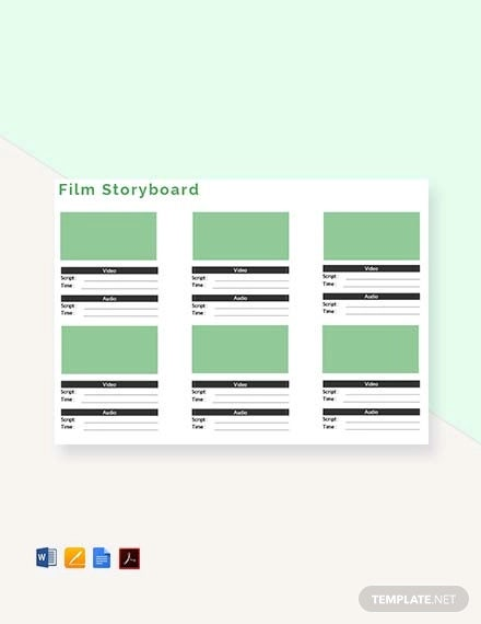 free film storyboard template