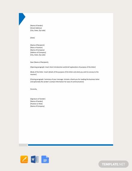 free formal letter format1