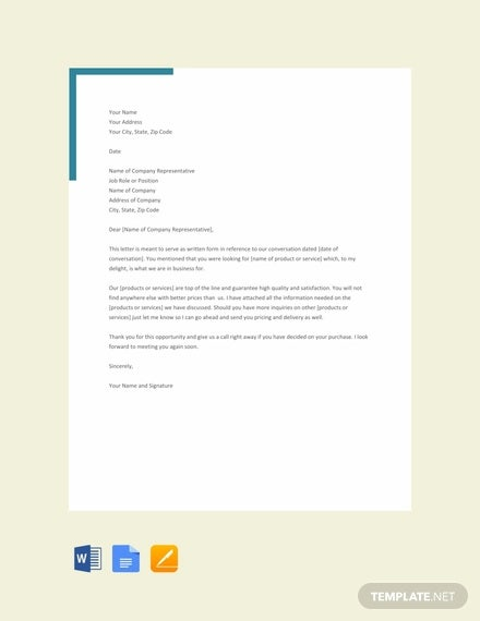free formal letter of interest template