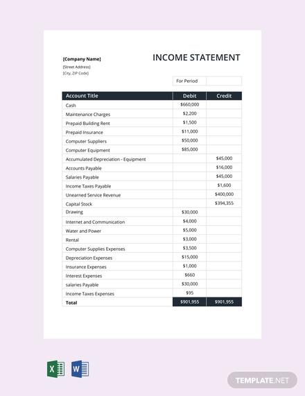 free income statement template 440x570 11