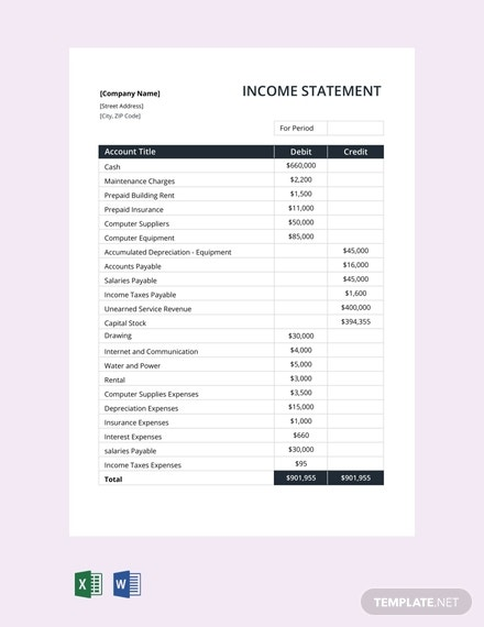 free income statement template 440x570 13