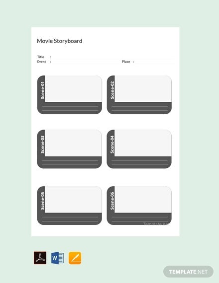 free movie storyboard template