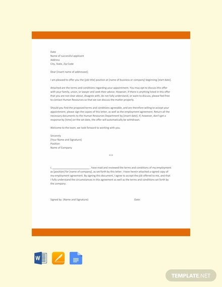 free private company appointment letter template