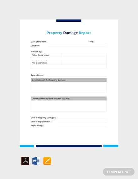 free property damage report template 440x570 1