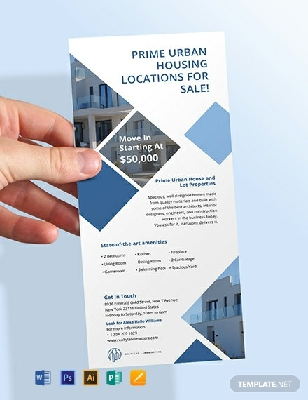 free real estate agency rack card template