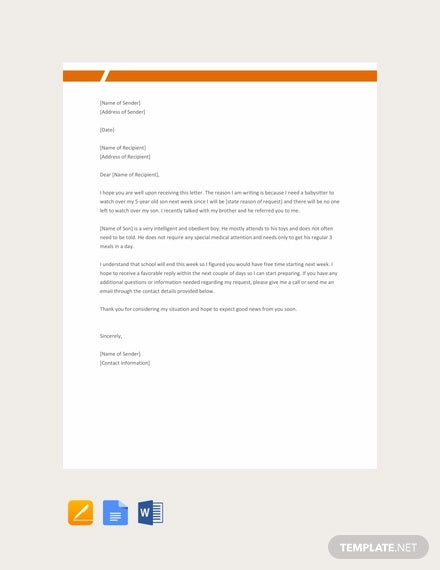 17 Simple Request Letter Templates Free Premium Templates