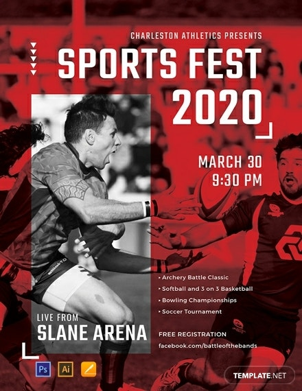 free sports event poster template 440x570 1