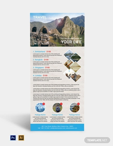 free travel agency rack card template