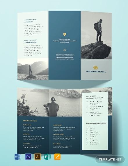 free travel brochure template