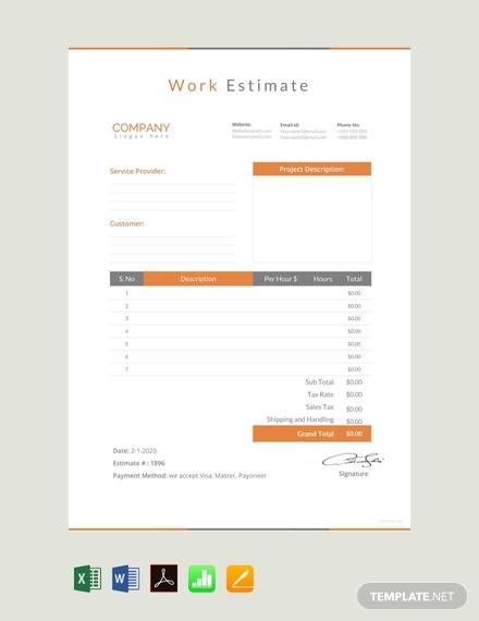 free work estimate template 440x570 1