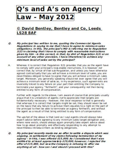 general agency law