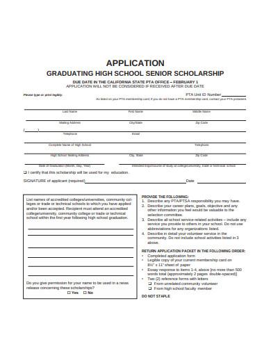 graduating high school senior scholarship