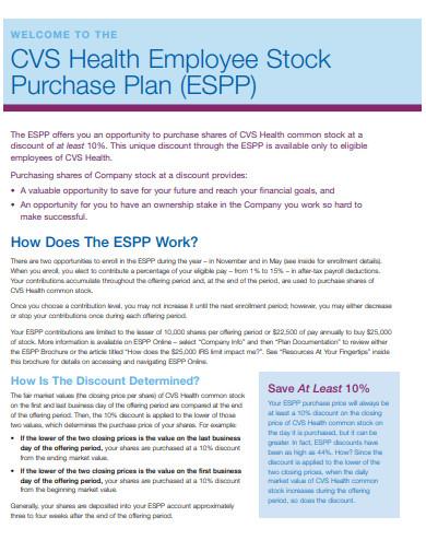 health employee stock purchase plan